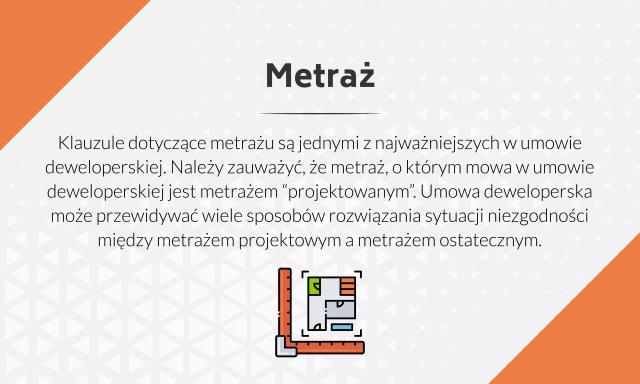 Informacje dotyczące metrażu w umowach deweloperskich